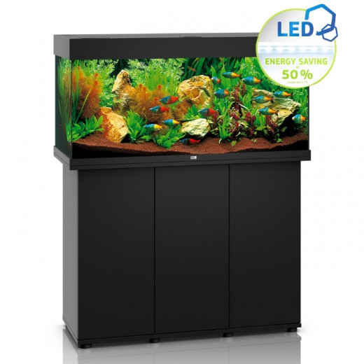 ensemble aquarium meuble rio 180 led 180l noir. Black Bedroom Furniture Sets. Home Design Ideas