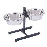 Support deux bols en inox 25 cm, 2,8 L