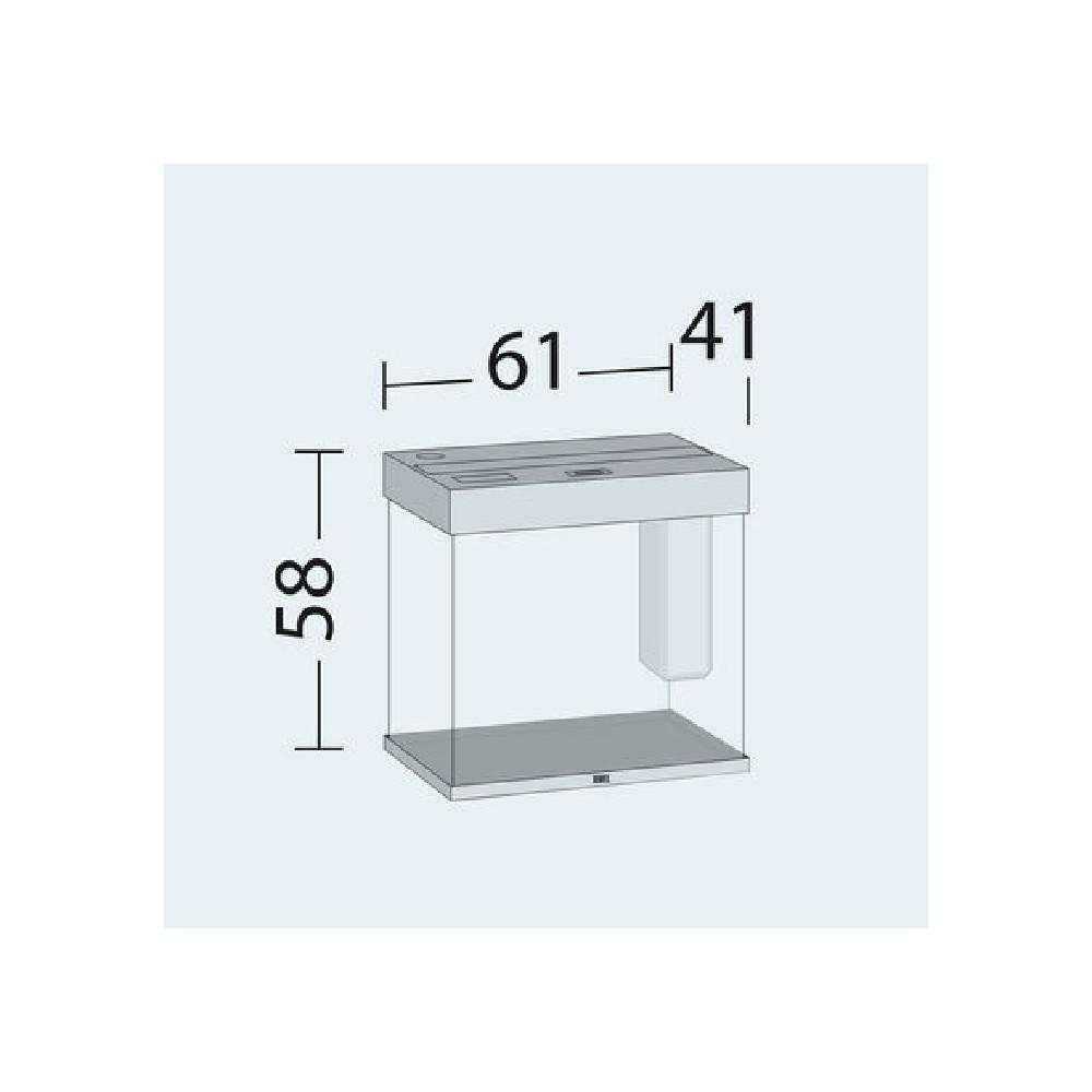aquarium lido 120 led bois clair. Black Bedroom Furniture Sets. Home Design Ideas